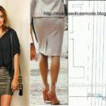 molde de saia minimalista grátis