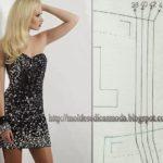 Molde de vestido cai-cai para imprimir grátis