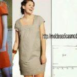 molde de vestido discreto