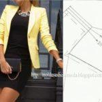 molde de casaco smoking feminino