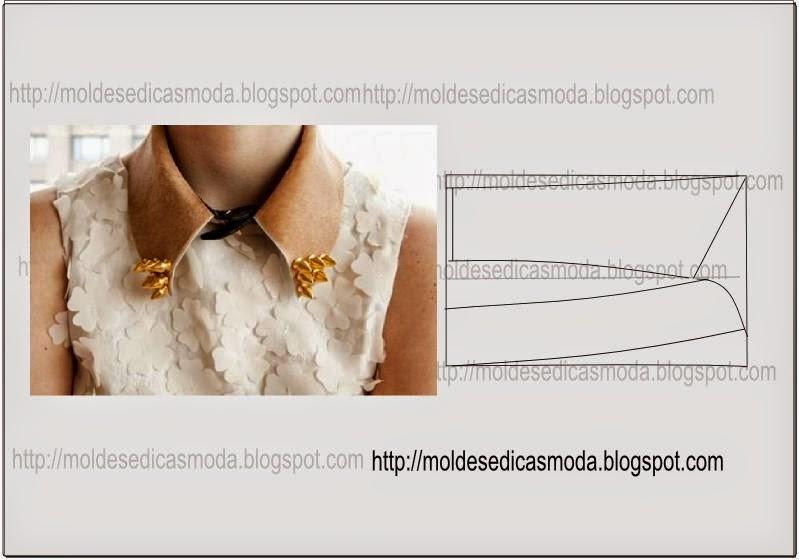 840e510c82 Passo a passo modelação colarinho clássico - Moldes Moda por Medida