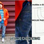 molde calça kid's
