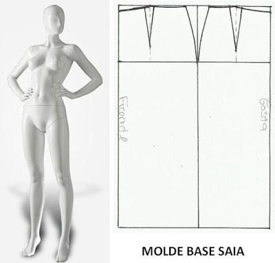 molde base saia
