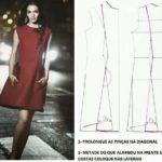 transformação do molde base de vestido