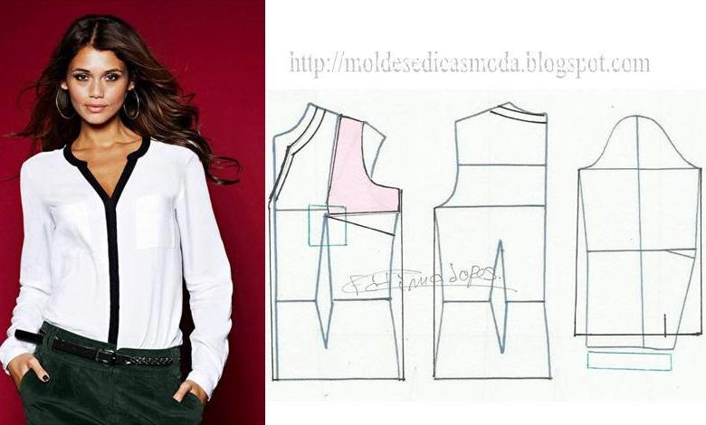 blusa simples