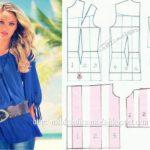 blusa azul simples