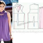 blusa lilás com gola especial