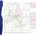 vestido azul com laço na cintura