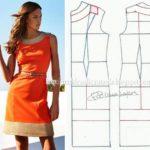 vestido em tecido laranja