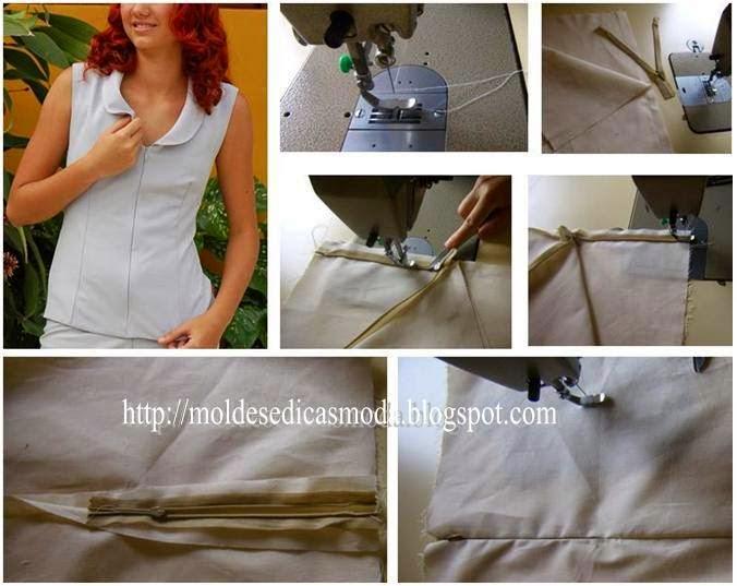 costura de fecho ou ziper