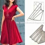 detalhes de modelagem de vestidos e blusas