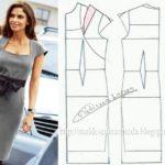 vestido com decote quadrado