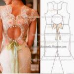 detalhes de modelação de vestidos e saia