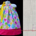molde vestido de criança