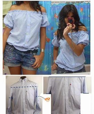 reciclagem de camisas quase novas