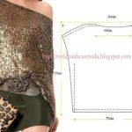 túnica de lantejoulas