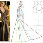 vestido comprido com decote longo