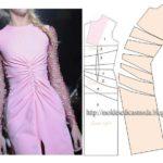 Vestido rosa com dois tecidos