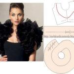 modelação de saia e costas de vestido