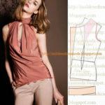 detalhes de modelagem de blusas e vestidos