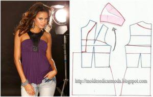 Transformação de blusas