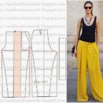 calça social feminina amarela