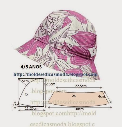 Chapéu de sol para criança