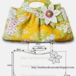 molde de bolsa floral
