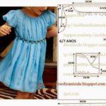 molde de vestido criança tamanho 7 anos