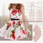 vestido godé floral