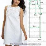 vestido branco com aplicações