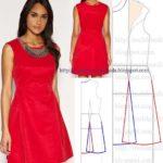 vestido evase vermelho