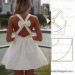 vestido branco curto com laço nas costas