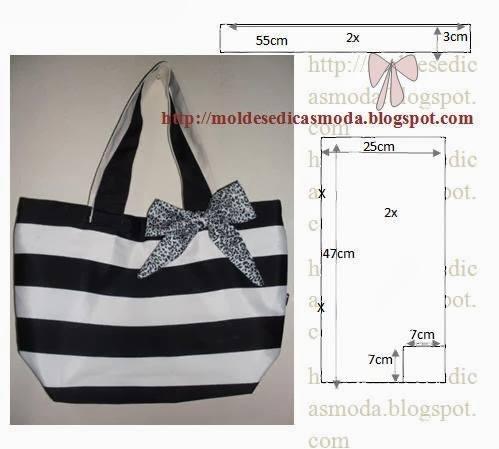 bolsa em tecido preto e branco