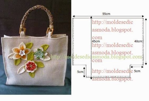 molde de bolsa com aplicações
