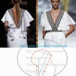 detalhes de modelagem de vestidos e blusa