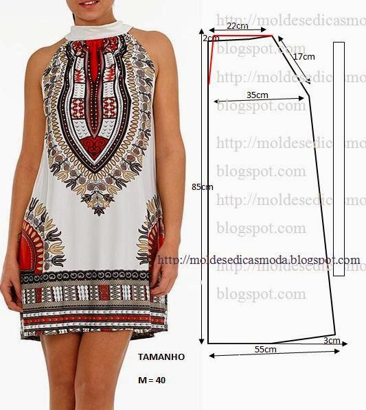Vestido estampado étnico
