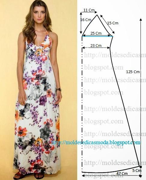 Corte de vestido simples