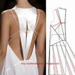 detalhes de modelação de vestidos