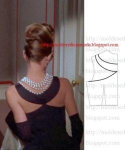 detalhes de modelagem de vestidos