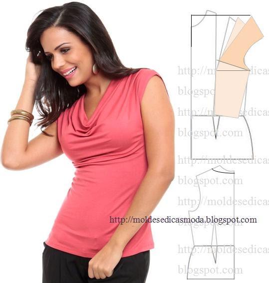 blusa manga curta rosa