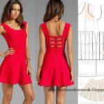 vestido casual curto vermelho