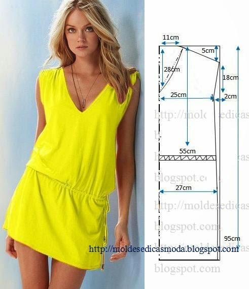 vestido casual curto amarelo