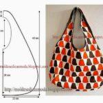 bolsa simples de tecido estampado