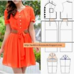 vestido laranja casual