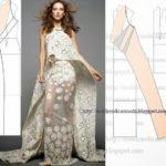 vestido de renda longo