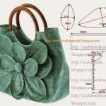 bolsa em tecido com flor