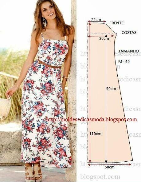 vestido floral comprido