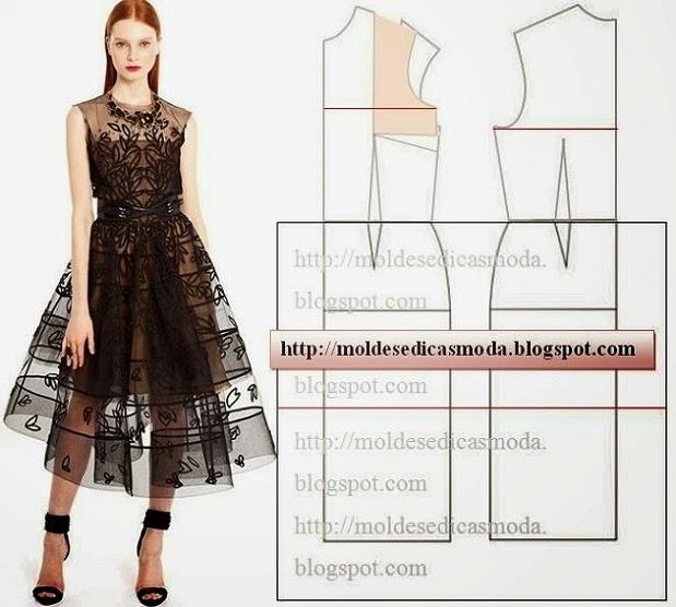 vestido organza e renda