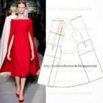 vestido vermelho com design